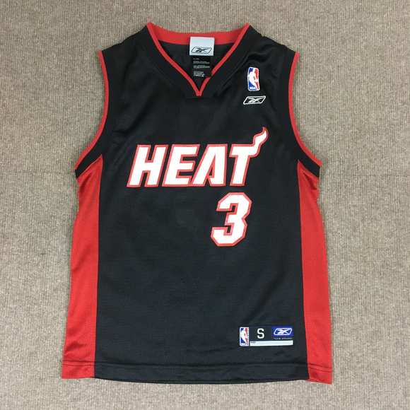 huge selection of 8328e cd921 Dwyane Wade Miami Heat #3 Jersey Youth Small 8